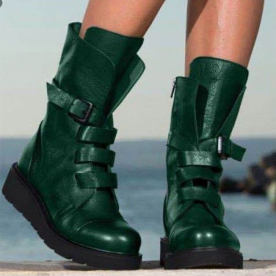 Vintage Zippered Mid-tube Martin Boots