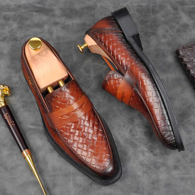 Men High Quality Slip-On PU Leather Formal Dress Shoes