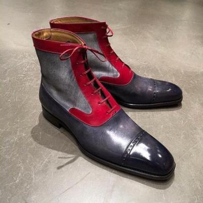 Men's Fashion Leather Gentlemen Martin Boots