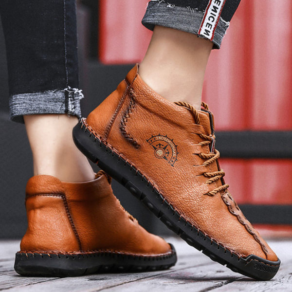 Men's Pleated Flat Leisure Shoes