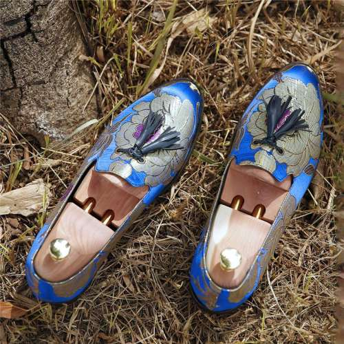 Men's Casual Lazy Tassel Pattern Slip-on Driving Shoes