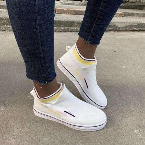 Women Comfy Elastic  Breathable Platform Loafers