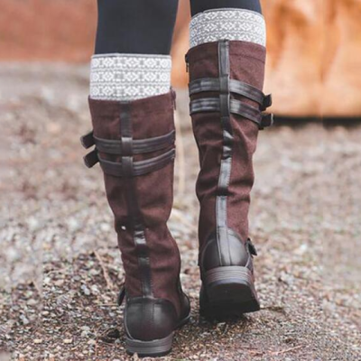 Woman Fashion Boots Mid Calf Casual Boots