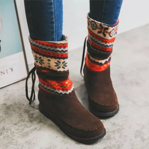>>Christmas Gift |Wedge Heel Daily Leather Boots