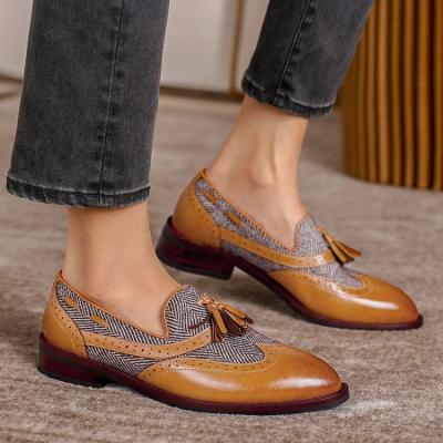 Retro Round Toe Tassel Loafers
