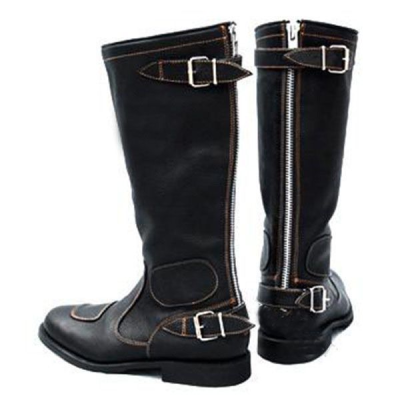 Men's High Buckle Motorcycle Boots