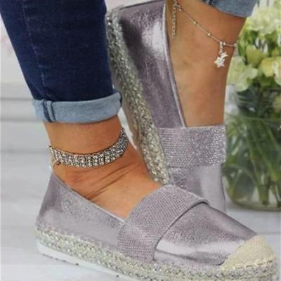 Woman Fashion Solid Color Rhinestone Shoes