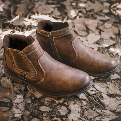 Casual Classic Leather Slip-On Boots