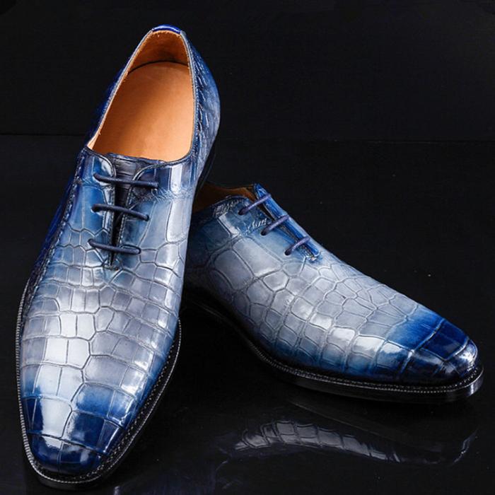 Timeless Alligator Shoes Mens Whole Cut Alligator Dress Shoes