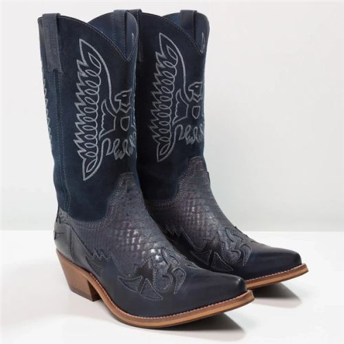Fashion Western Cowboy High Quality Men PU Leather Boots