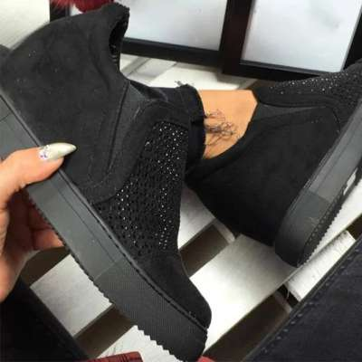 Women's Hollow Suede Boots