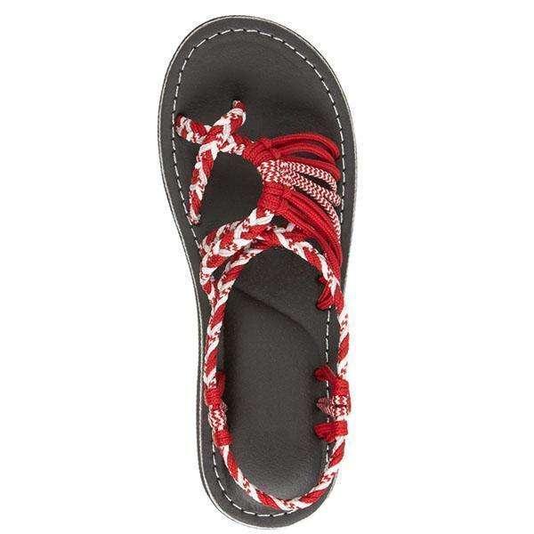 Summer Handmade Breathable Bandage Beach Flat Sandals