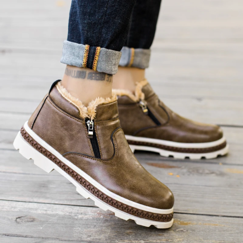 Men's Winter New Short Boots Retro Warm Cotton Shoes