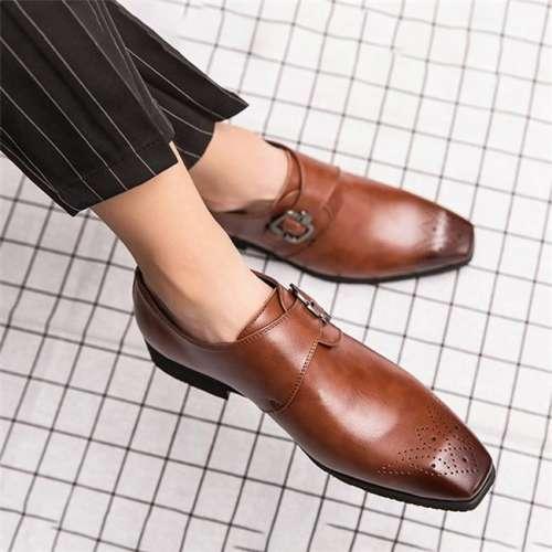 Men's British Style Large Size Faux Leather Shoes