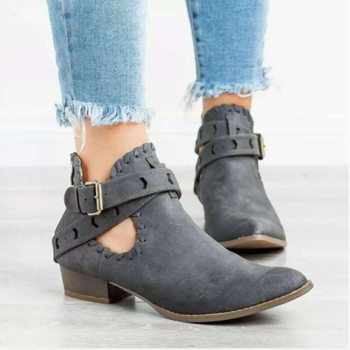 Women's Bandage Low Heel Ankle Boots