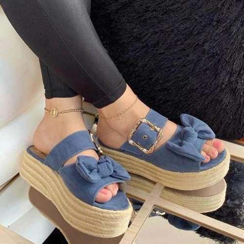 Wedge Heel Summer Faux Suede Sandals
