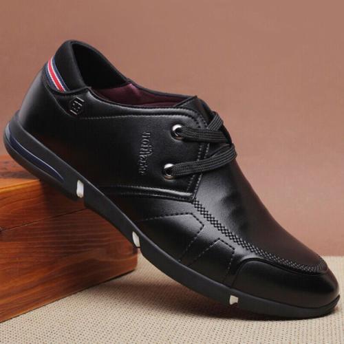 Men Microfiber Leather Comfy Non Slip Business Casual Shoes