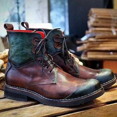 Men's Vintage Splicing Handmade Martin Boots