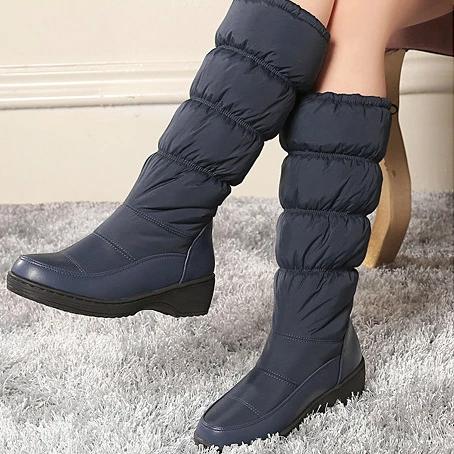 Winter Warm Wild Round Head Flats Boots