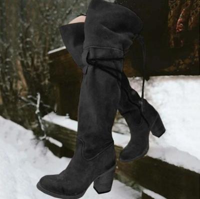 Women's Boots Cuban Heel Round Toe Boots
