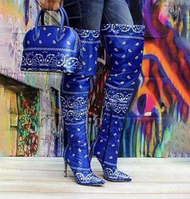 Over Knee High Heel Boots&Bag
