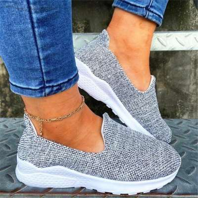 Canvas Flat Sneakers