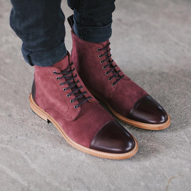 The Troy Boot in Oxblood