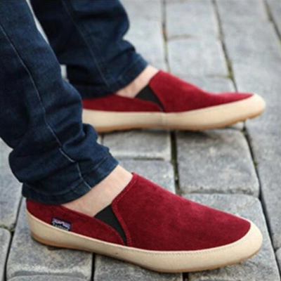Men's Breathable Flat Slip on Canvas Shoes