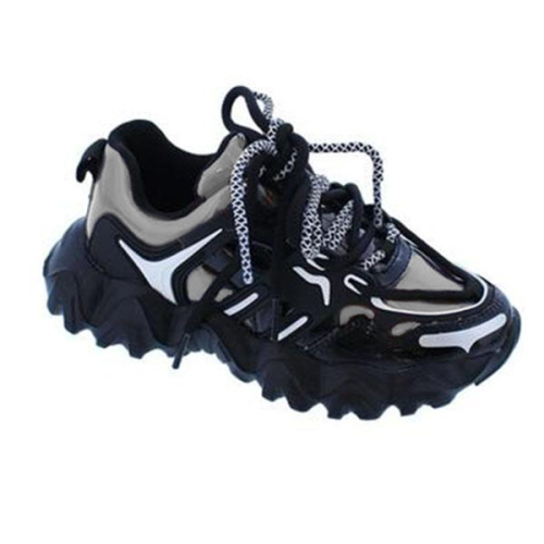Dad Shoes Polished Finish Glossy Sneakers