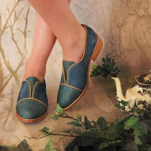 Women Comfortable Retro Loafers