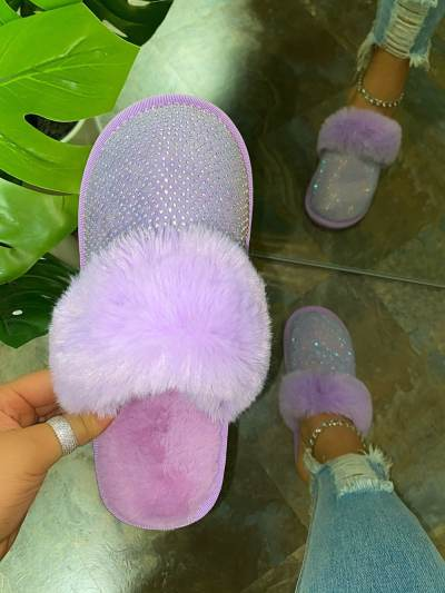 Women's Baby Doll Rhinestone Slippers