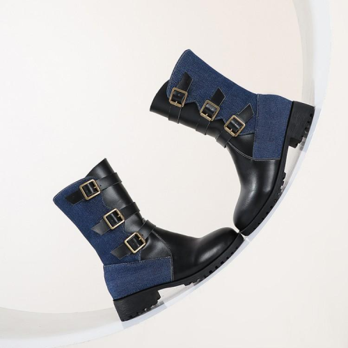 Round Toe Thick Heel Boots