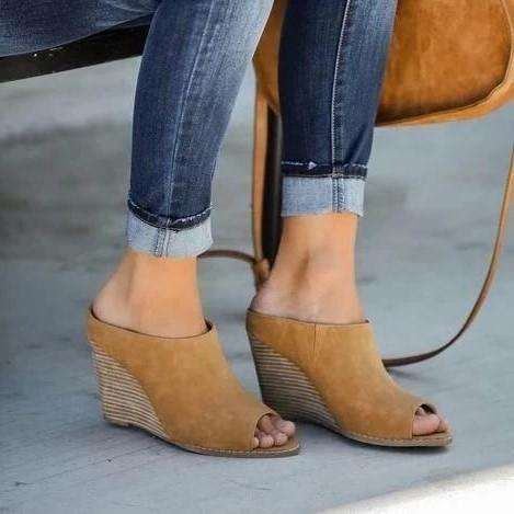 Wedge Peep Toe Sandals