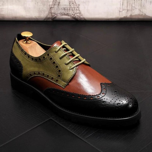New Fashion Men Top Quality Pu Leather Shoes