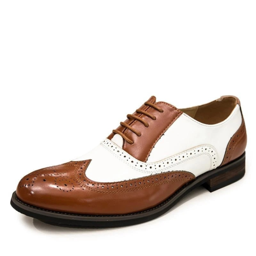 Handmade Men's Spectator Two Tone Formal Shoes