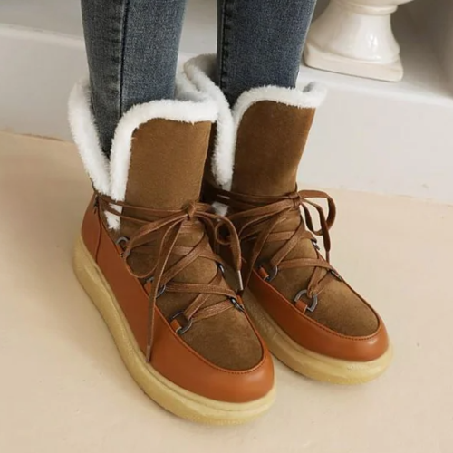 Daily Artificial Leather Flat Boots