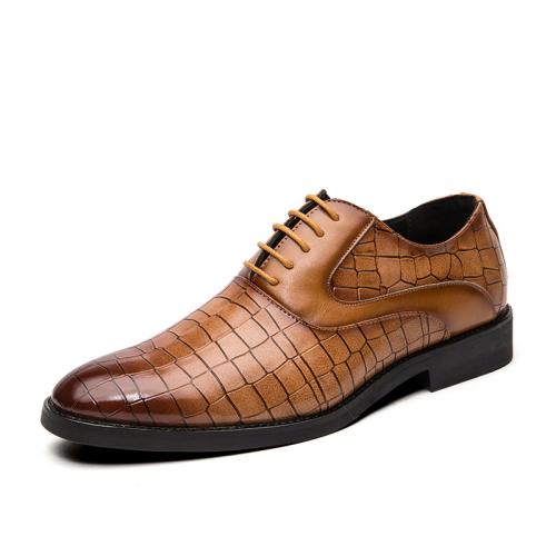 Men'S Fashion Crocodile Leather Shoes