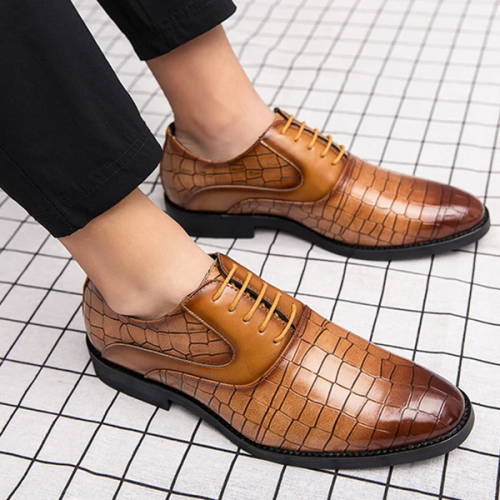 Men'S Fashion Crocodile Leather Shoes