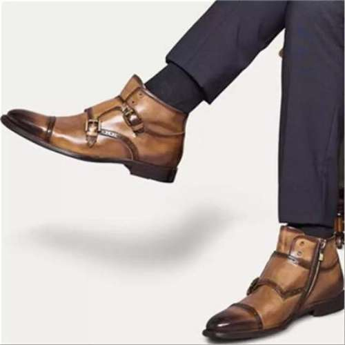 Faux Leather Flat Formal Shoes
