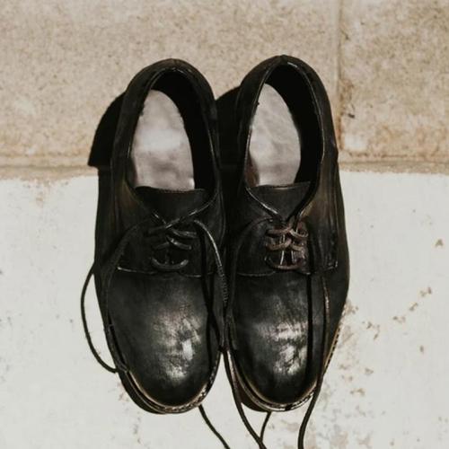 Men's Vintage Leather Lace-Up Shoes