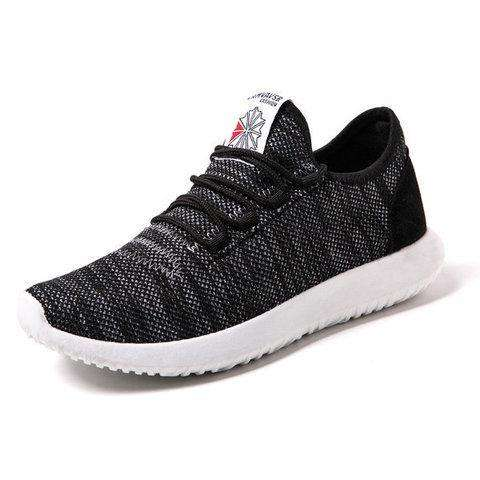 Breathable Lace-up Sport Shoes Casual Mesh Fabric Sneakers