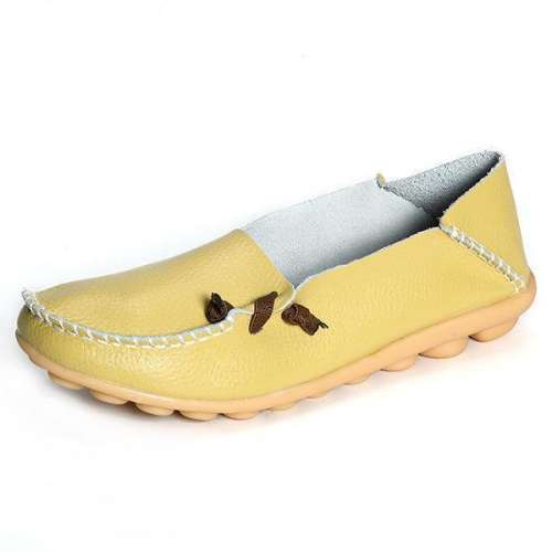 *Big Size Soft Multi-Way Wearing Pure Color Flat Loafers