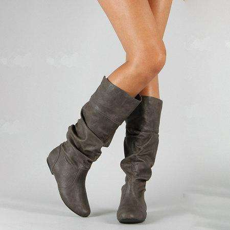 *Women PU Booties Casual Comfort Plus Size Shoes