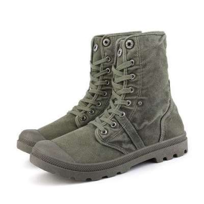 Men Casual Lace-Up Mid-Calf Boots
