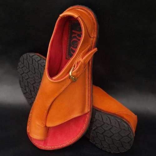 *Buckle Strap Flat Heel Sandals