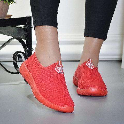 *Women Mesh Fabric Sneakers Casual Comfort Slip On Shoes