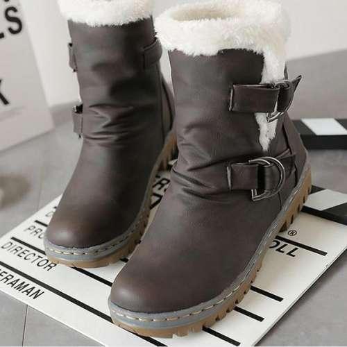 *Classics Flat Heels Warm Fur Snow Boots