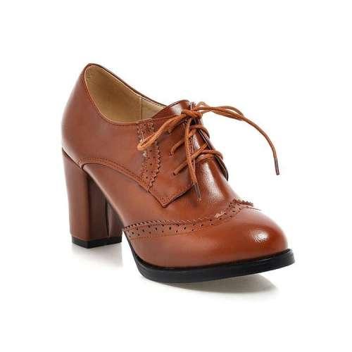 *Women Oxfords Slip On Heel Casual Shoes