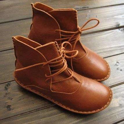 *Handmade Retro Leather Shoes Shoes Ankle Boots Oxford Women Shoes