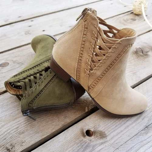 *Gorgeous Detailed Booties Gentle Hollow Boots